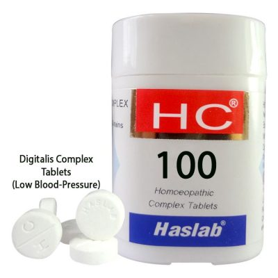 Haslab HC-100 Digitalis Complex Tablets for LowBlood-Pressure