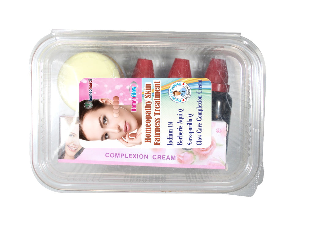 HomeoGlow homeopathy skin fairness treatment kit