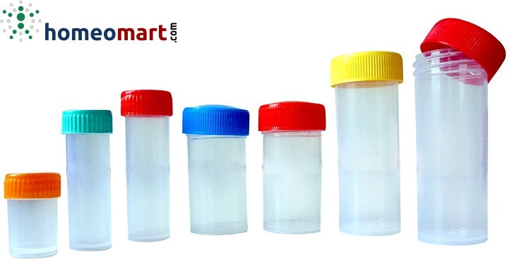 Plastic Pills Bottles Semi Transparent (Packing 100)