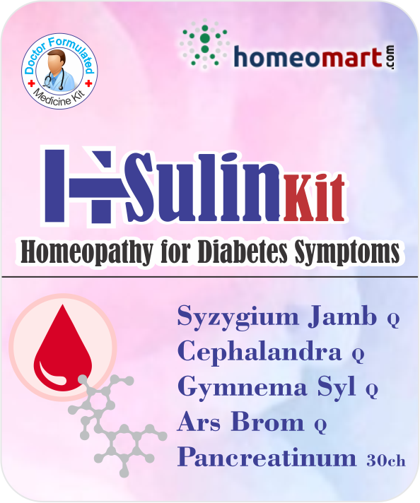 H-Sulin Kit, Homeopathy for Diabetes, Insulin control with Syzygium, Cephalandra, Pancreatinum