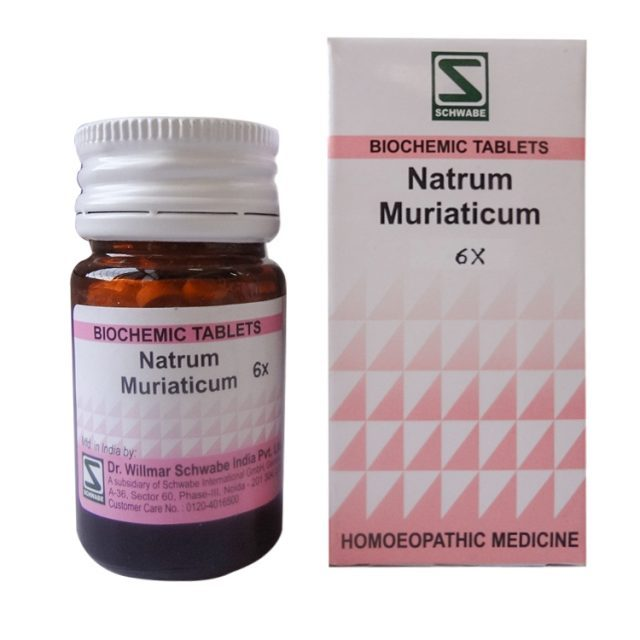 Schwabe Natrum Muriaticum Biochemics Tablets for Constipation, Cold with Watery discharge