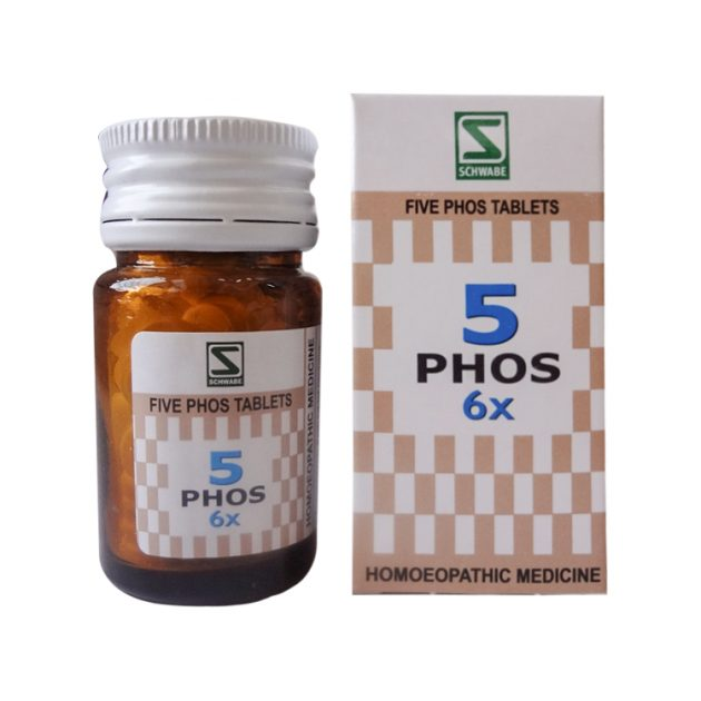Schwabe Five Phos Tablets 3x, 6x. General Tonic for Nerves.