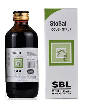 SBL Stobal Cough Syrup for dry & wet cough, throat irritation, laryngitis