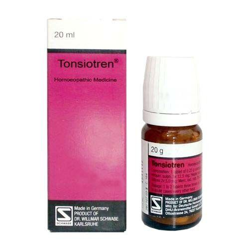 Schwabe German Tonsiotren Tablets for inflammation of Tonsils, Sinuses