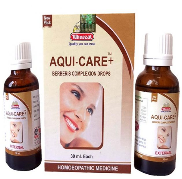 Wheezal Aqui Care + Berberis Complexion Drops for Scars, Acne, Blackheads