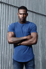 Jakd Longline Fitted T-Shirt - Atlantic/Atlantic