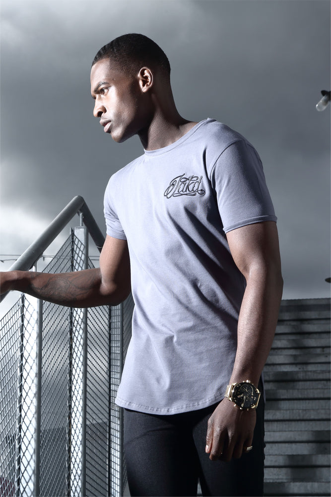 Jakd Longline Fitted T-Shirt - Battle Grey/Black