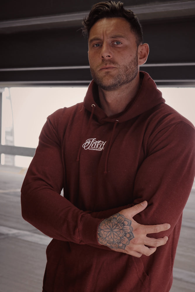 Men's College Hoodie - Burgundy Smoke