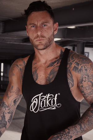 Jakd Vest-Black/White Large Logo