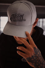 Grey/Dark Grey 3D Embroidered Logo Snapback