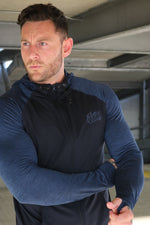 Men's Training Hoodie - Navy/Navy Melange