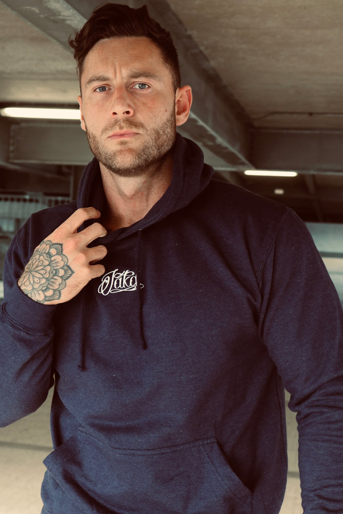 Men's College Hoodie - Navy Smoke