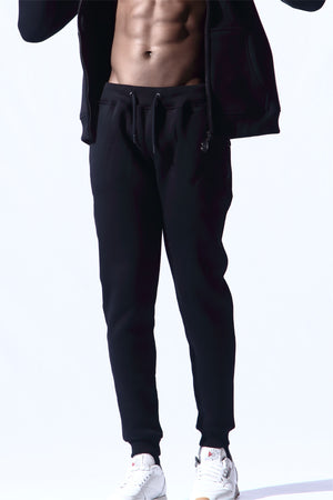 Jakd STEALTH Fitted Tracksuit Bottoms Black on Black