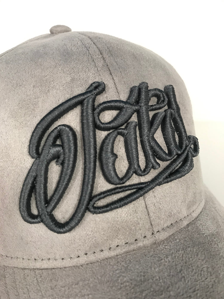 Grey/Graphite Suede 3D Embroidered Logo Cap