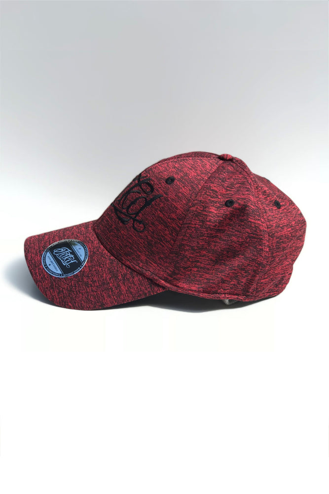 Jakd Cap - Fleck Stretch fit - Red/Black