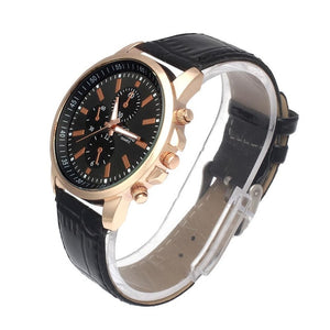 Mens Watches Top Brand Luxury Leather Analog Dial Quartz Clock Sport Wrist Watch relogio masculino erkek kol saati