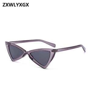 ZXWLYXGX Vintage Sunglasses Women Cat Eye Luxury Brand Designer Sun Glasses Retro Small Red ladies Sunglass Black Eyewear oculos