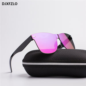DJXFZLO2018 New Transparent Sunglasses Women Vintage Colorful Retro Fashion Rimless Sun Glasses Women's Brand Eyewear UV400