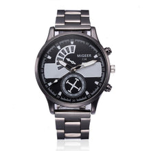 Watch  Men Silver Military   Watches  Stainless Steel Bracelet Fashion Luxury   Quartz Watches  Clock  Reloj Hombre  18APR03