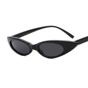 ZXWLYXGX Cute Sexy Ladies CatEye Sunglasses Women Brand Vintage Small Round Sun Glasses Women Female Oval Glasses UV400