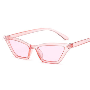 Vintage Sunglasses Women Cat's Eye Luxury Brand Designer Sun Glasses Retro Small Red ladies Sunglass Black Eyewear oculos