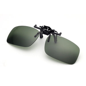 Clip On Sunglasses Driving Night Vision Lens Sun Glasses Male Anti-UVA  For Men Women With Case & Glasses Cloth