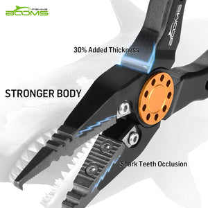 Booms Fishing X09 Aluminum Fishing Pliers Saltwater Hook Remover Pliers