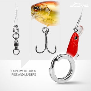 Booms Fishing FSR Split Ring, 3.5mm-10mm