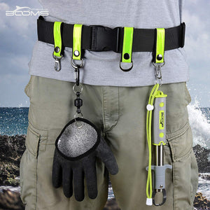 FB1 Fishing Belt With D Rings And Swivel Hooks