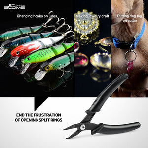 Booms Fishing SR1 Split Ring Pliers Black - Booms Fishing Offical