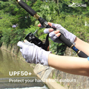 FG2 Fingerless Fishing Gloves Sun Protection