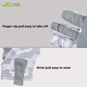 Booms Fishing FG2 Half Finger Guide Glove, UPF50+ Sun Gloves