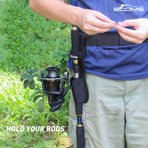 Booms Fishing P04 Waist Rod Holders For Belt Protable Polyester Pole Holster