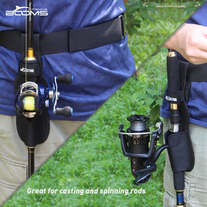 Booms Fishing P04 Waist Rod Holders For Belt Protable Polyester Pole Holster - Booms Fishing Offical
