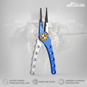 Booms Fishing X1 Aluminum Fishing Pliers Saltwater - Booms Fishing Offical