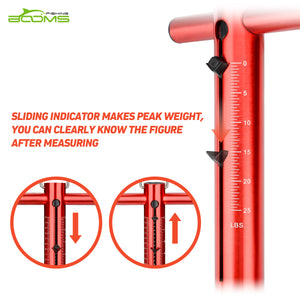 TS1 Aluminum Tube Fishing Spring and Hook Scale
