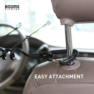 VTC Vehicle Rod Transport Cord, Headrest Mount Coiled Rod Holder