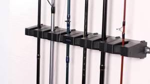 WV2 Vertical Fishing Rod Holder for Garage Wall Mount Compact