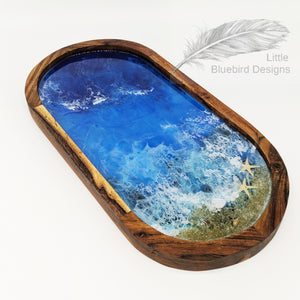 Side Table Tray (Ocean design)