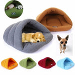 Warm Sleeping Fleece Dog Bed