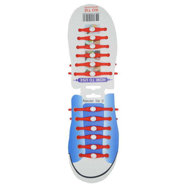 Silicone Shoe Lace (12PCS)