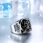 Silver Unique Skeleton Ring for USA ARMY SNIPER LOVERS