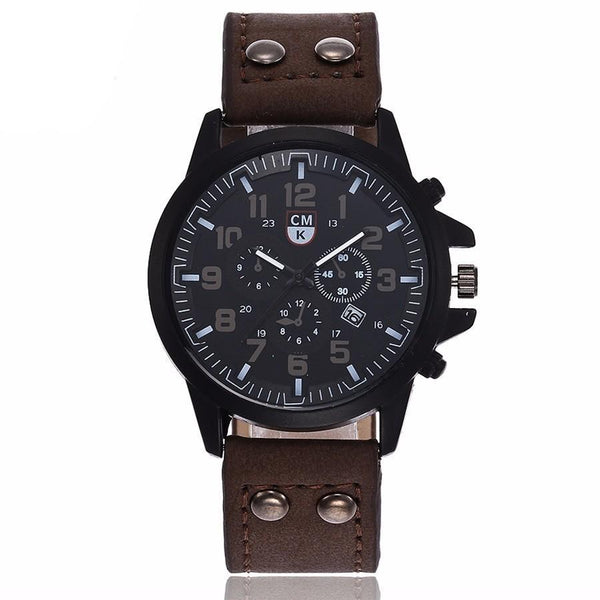 """Greydell"" Leather Quartz Watch"