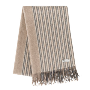 Cashmere Shawl (Mid-Brown Striped)