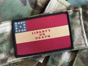 "Confederate 1st National Flag - ""Liberty or Death"""