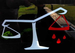 Scales of Justice Vinyl Decal