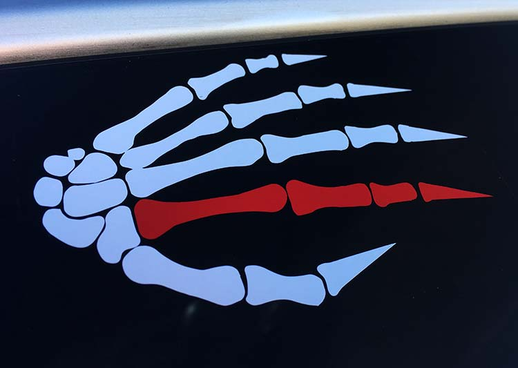 144.1 War Hand Vinyl Decal