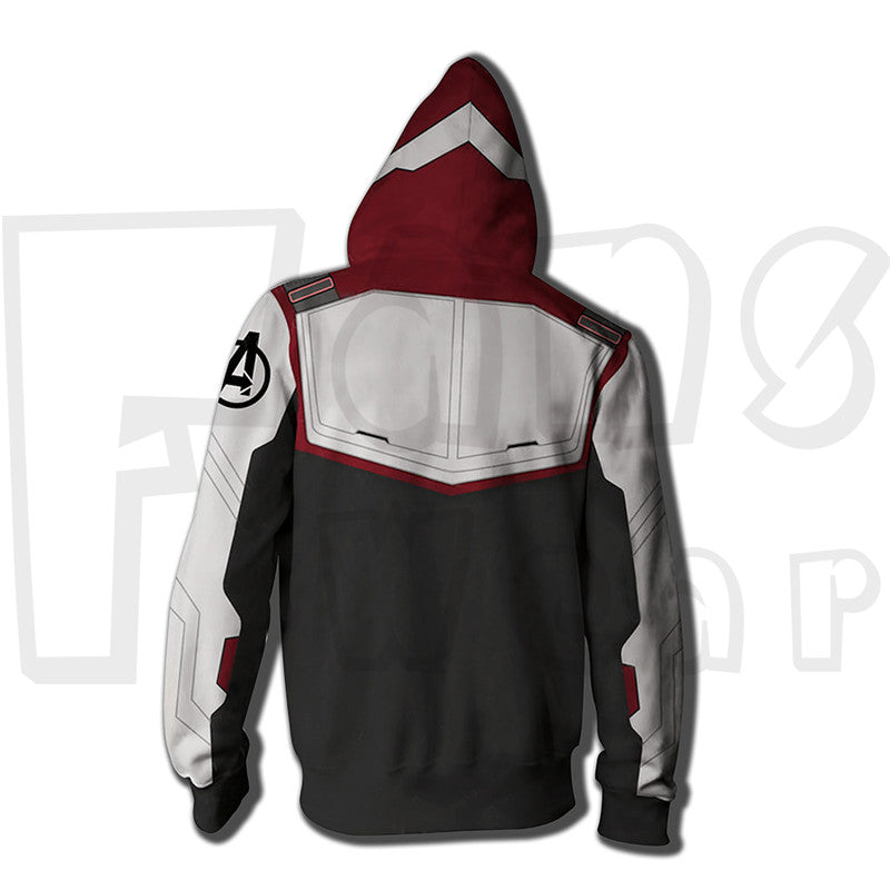 Endgame Battle Suit Hoodies - Captain Zip Up Sweatshirt