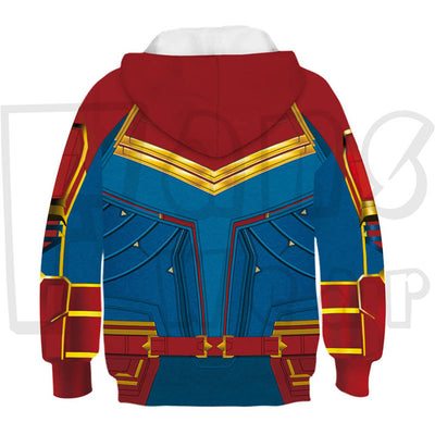 The Avengers Captain Marvel Unisex Pullover Sweatshirt Children Hoodie