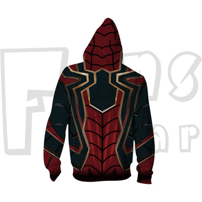 Iron Spider Hoodies -  Heroes Assamble  Zip Up Hoodie